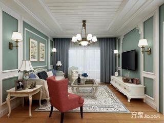 109平美式风格三居装修效果图