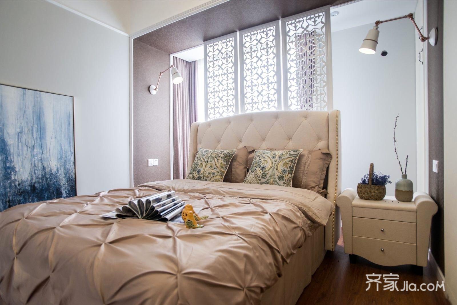 89平美式三居卧室装修设计图