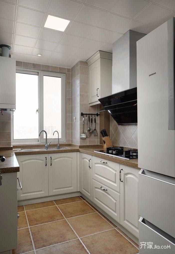 126平美式风格三居厨房装修效果图