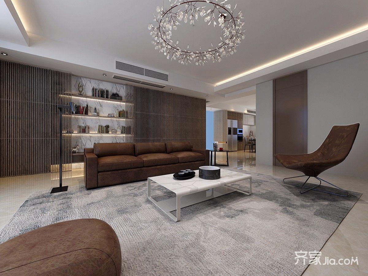 大户型简约风格别墅装修沙发效果图