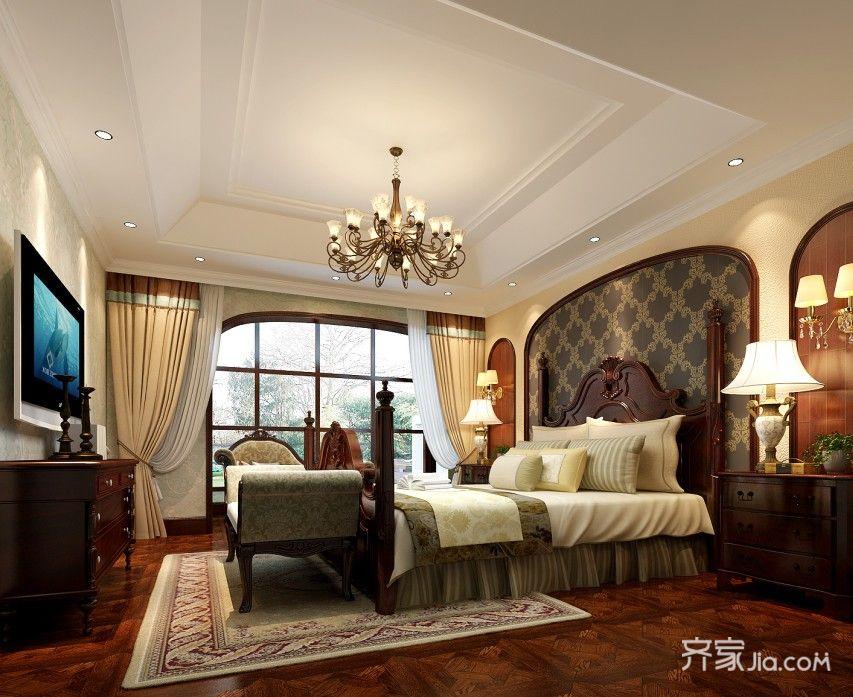 欧式大户型别墅卧室装修效果图