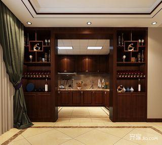134平中式风格三居厨房装修效果图