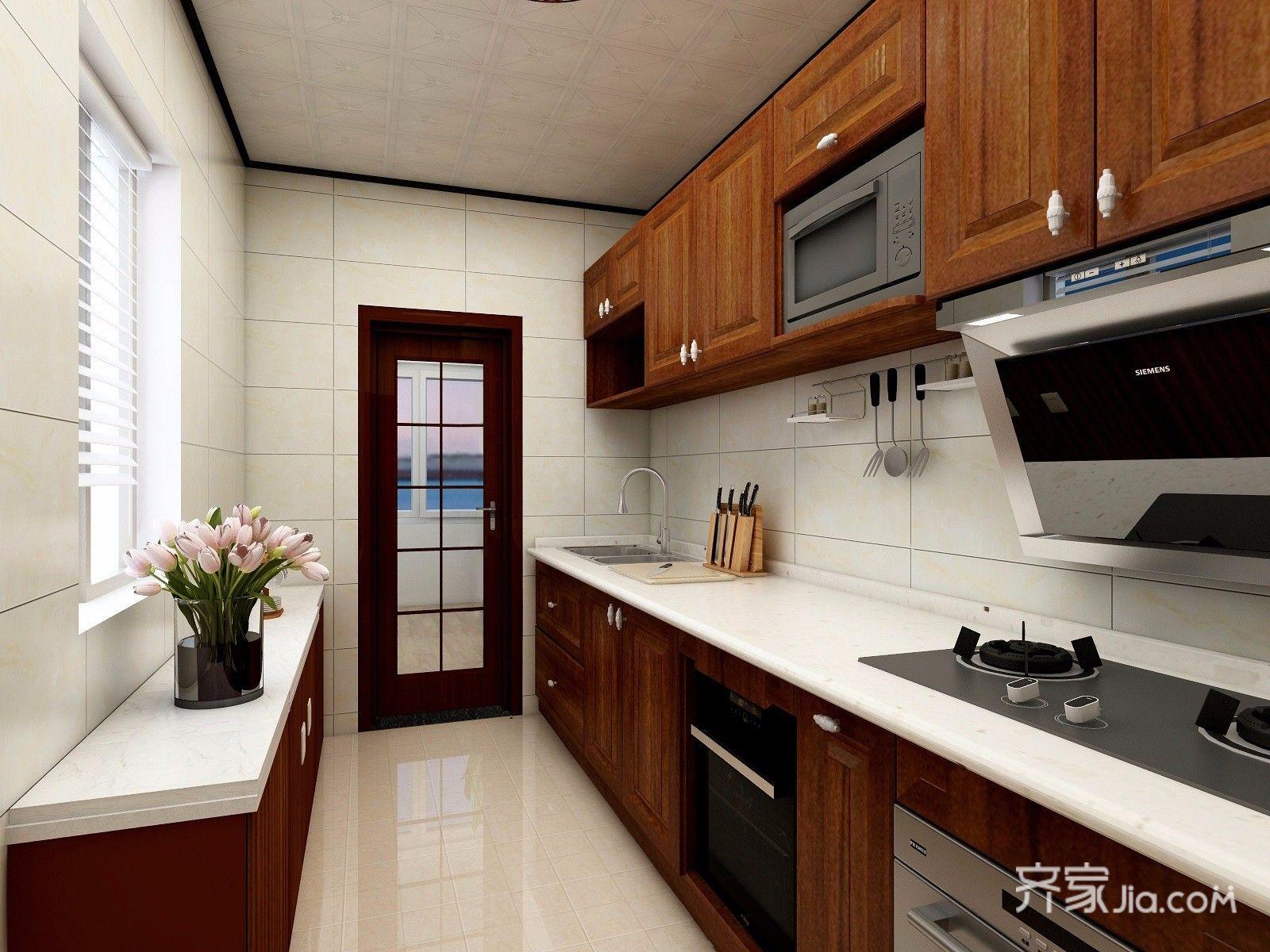 106㎡现代简约三居厨房装修效果图