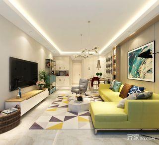 75平现代风格两居装修效果图