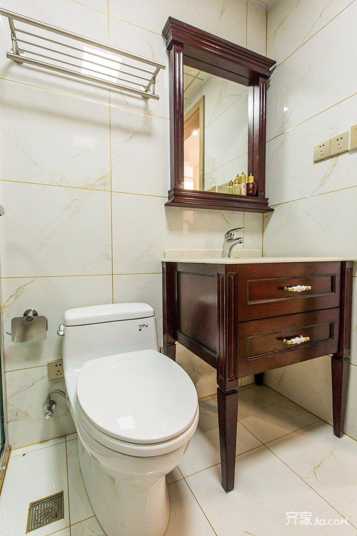 120平现代简约二居装修洗手台设计图