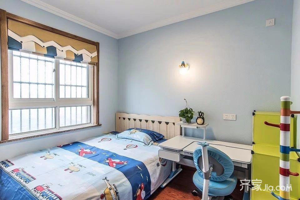 110平简美风格三居儿童房装修效果图