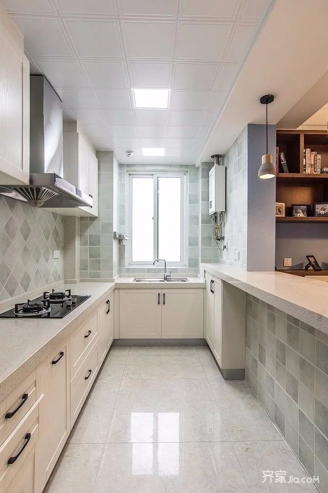 110平简美风格三居厨房装修效果图