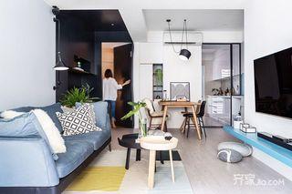 北欧风二居室公寓装修效果图