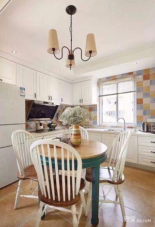 美式田园风格两居厨房装修效果图