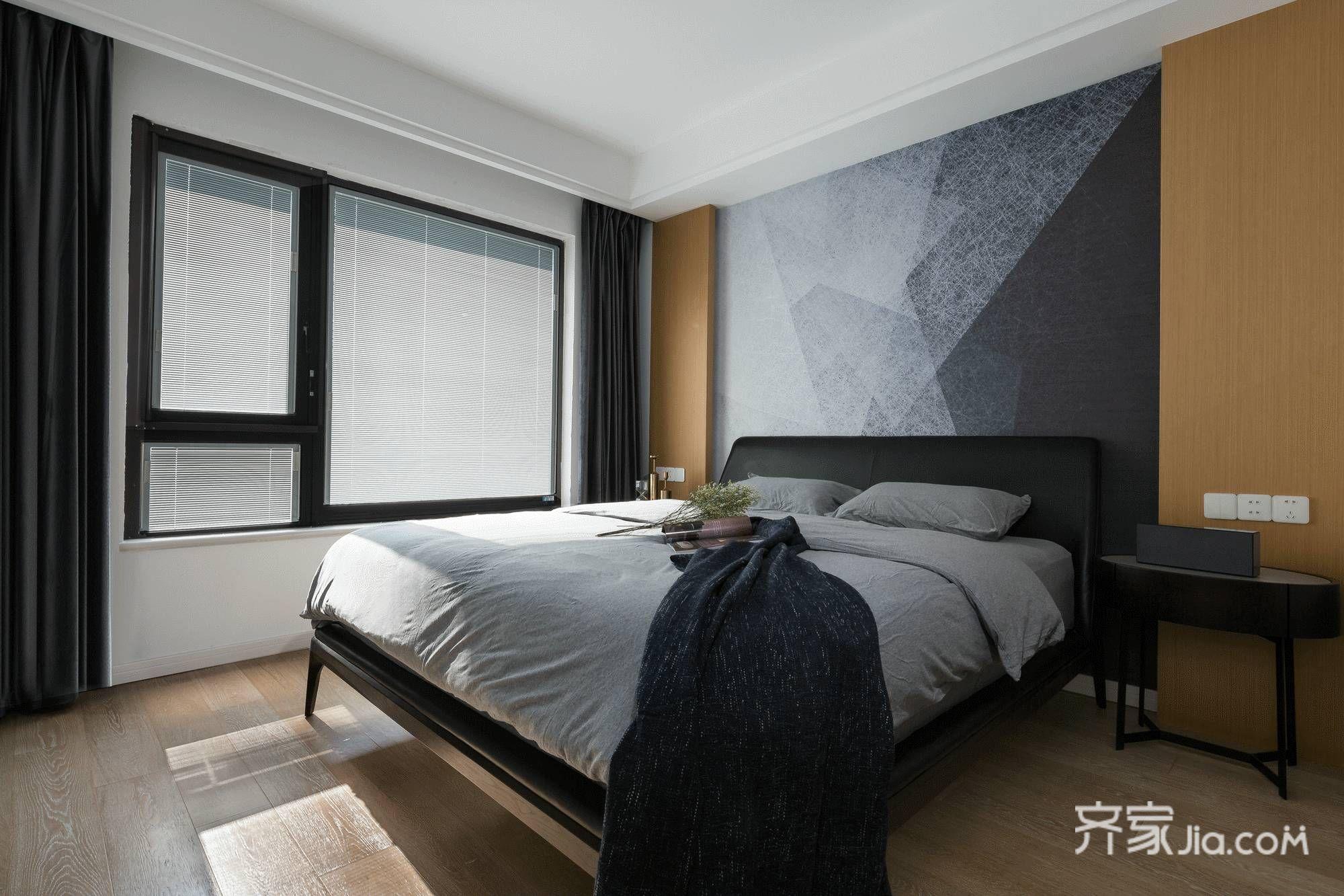 118平现代风格三居卧室装修效果图