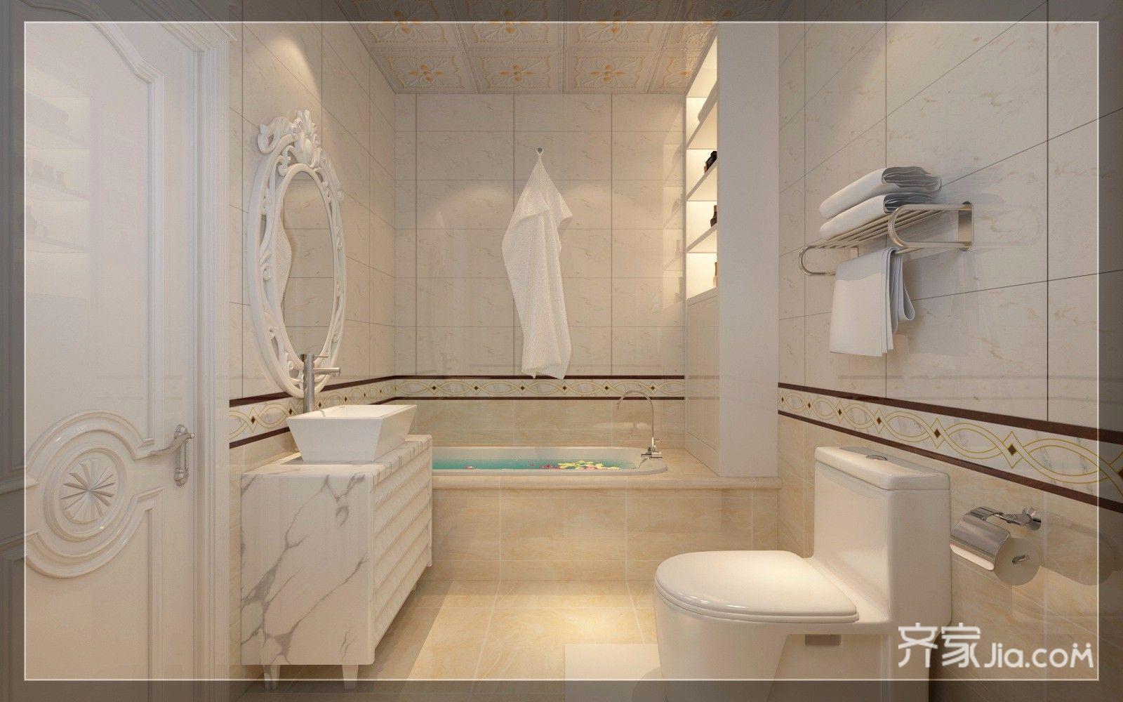豪华欧式风格三居卫生间装修效果图
