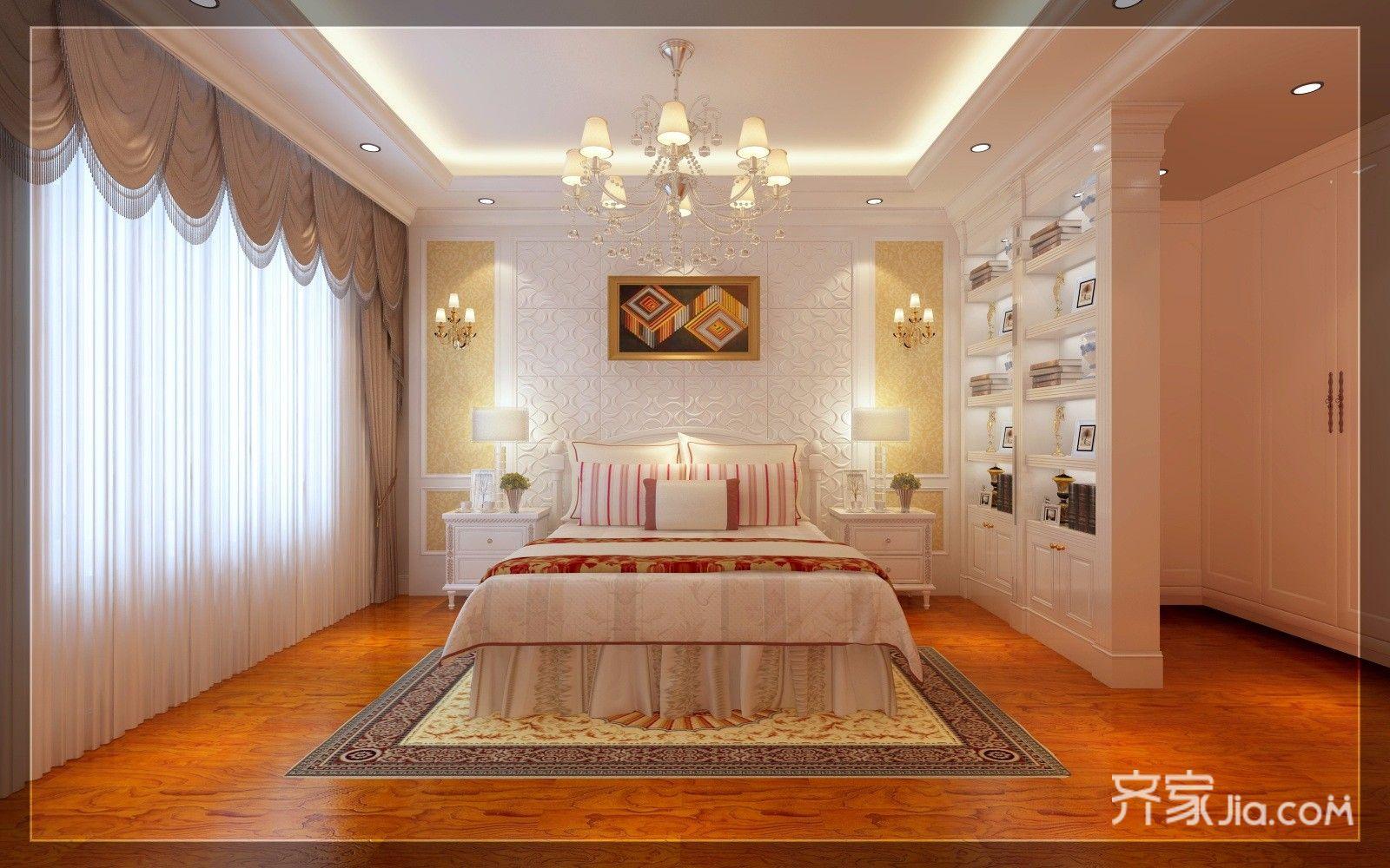 豪华欧式风格三居卧室装修效果图
