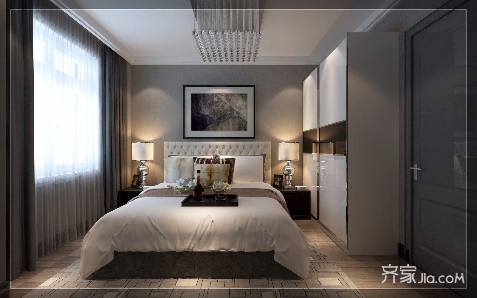 大户型现代简约复式装修卧室效果图