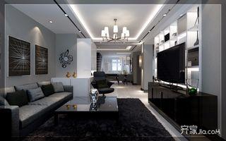 大户型现代简约复式装修客厅效果图