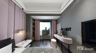 现代简约低奢三居装修书桌设计图