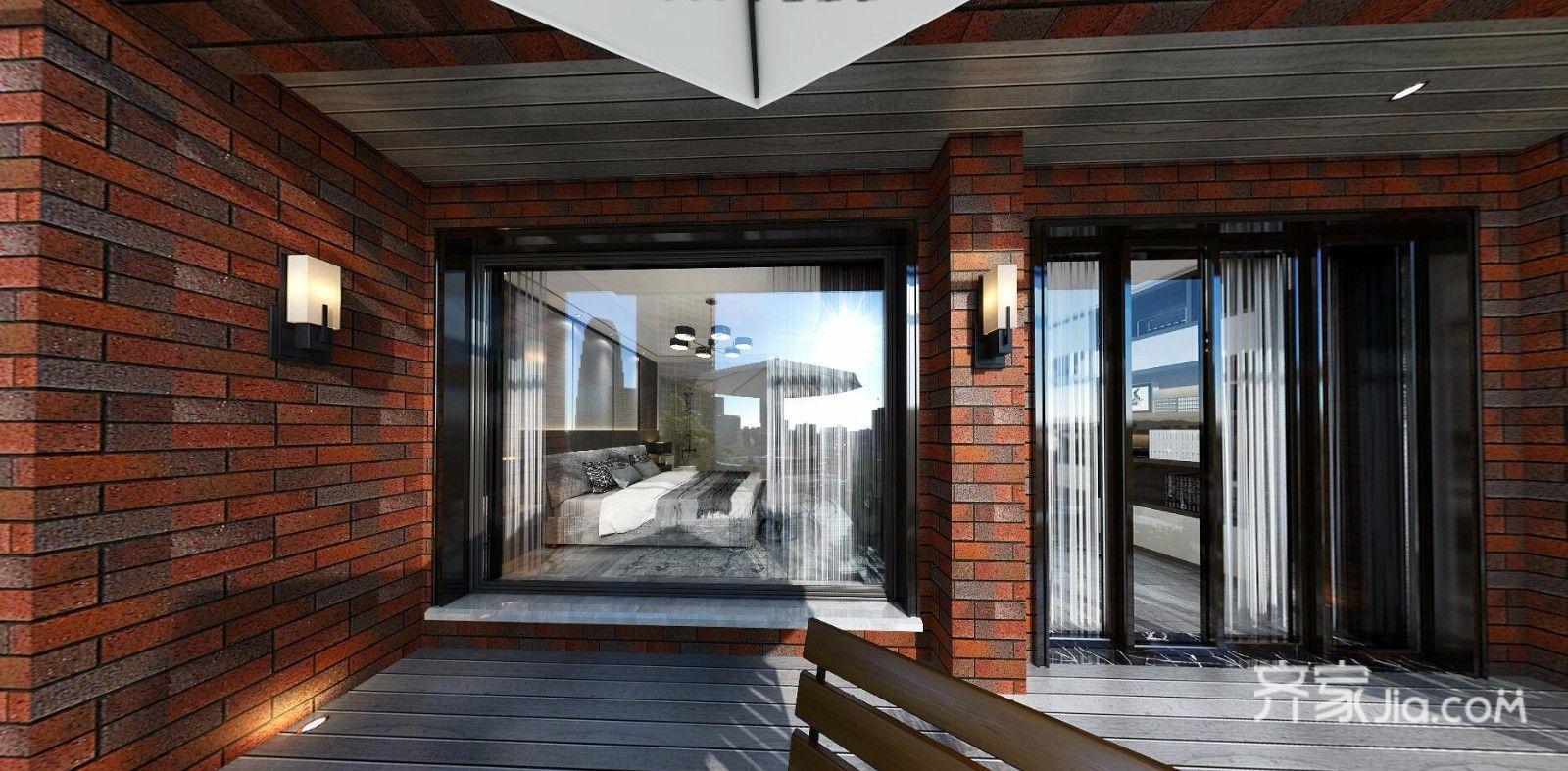 现代简约低奢三居阳台装修效果图