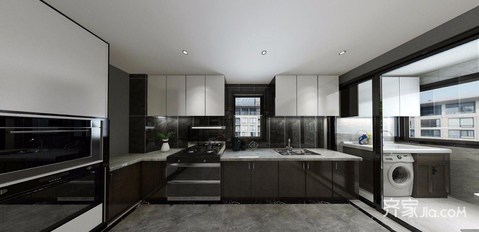 现代简约低奢三居厨房装修效果图