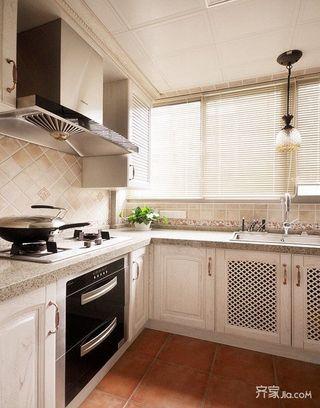 80㎡美式风格两居厨房装修效果图