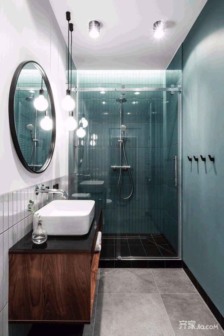 小户型现代风公寓卫生间装修效果图