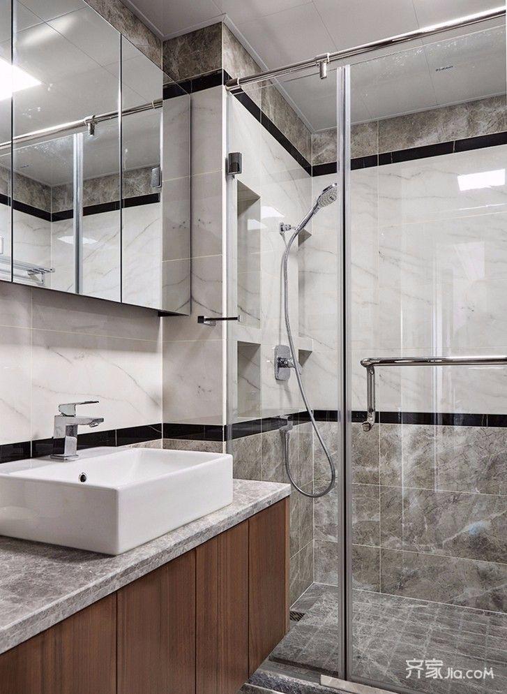 现代中式风格四居室卫生间装修效果图