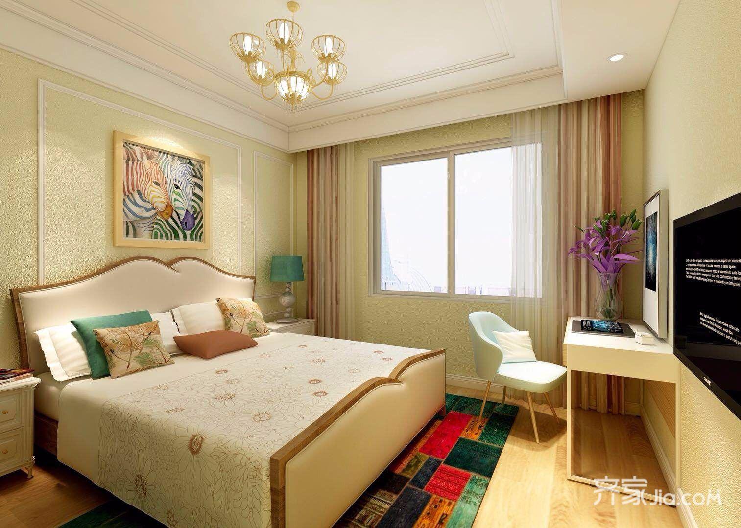 106平米混搭风格卧室装修效果图
