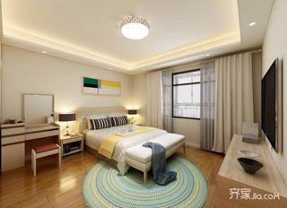 三居室现代北欧混搭卧室装修效果图
