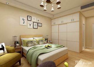 95平现代北欧混搭卧室装修效果图