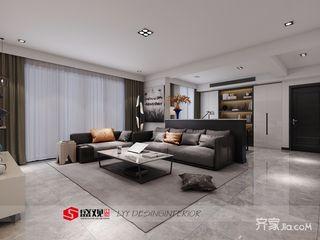 152平现代简约三居装修效果图