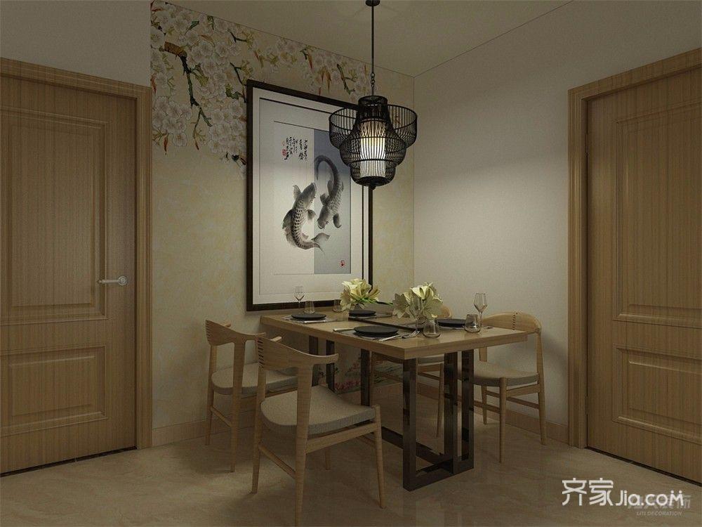 新中式风格两居餐厅装修效果图