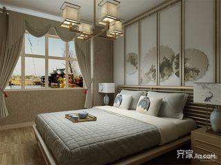 新中式风格两居卧室装修效果图