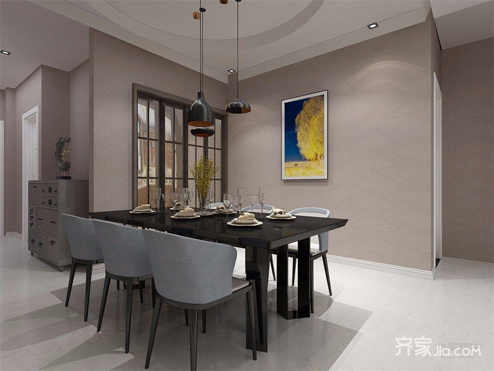 90㎡现代风格两居装修餐桌效果图