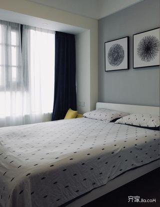 北欧风格三居装修卧室布置图