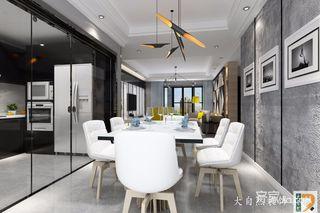 高级灰现代简约风装修餐桌椅效果图