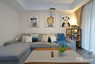 简约风格两居室装修沙发背景墙设计图