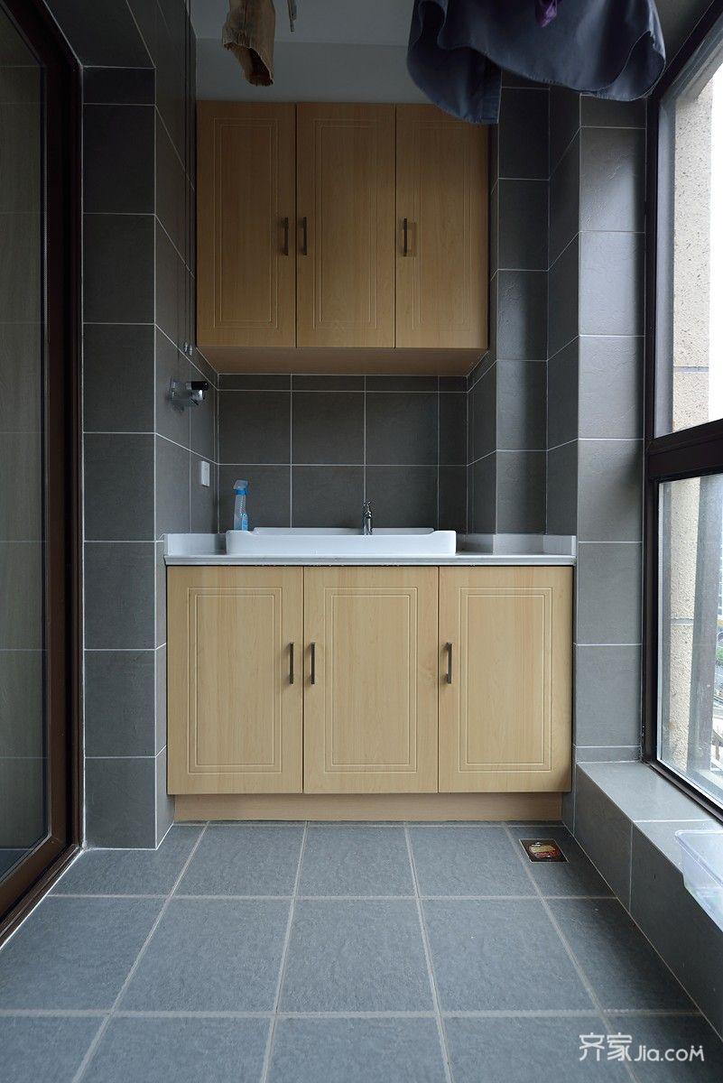 简约风格两居室装修阳台设计图