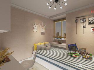 138平混搭风格三居装修榻榻米设计图