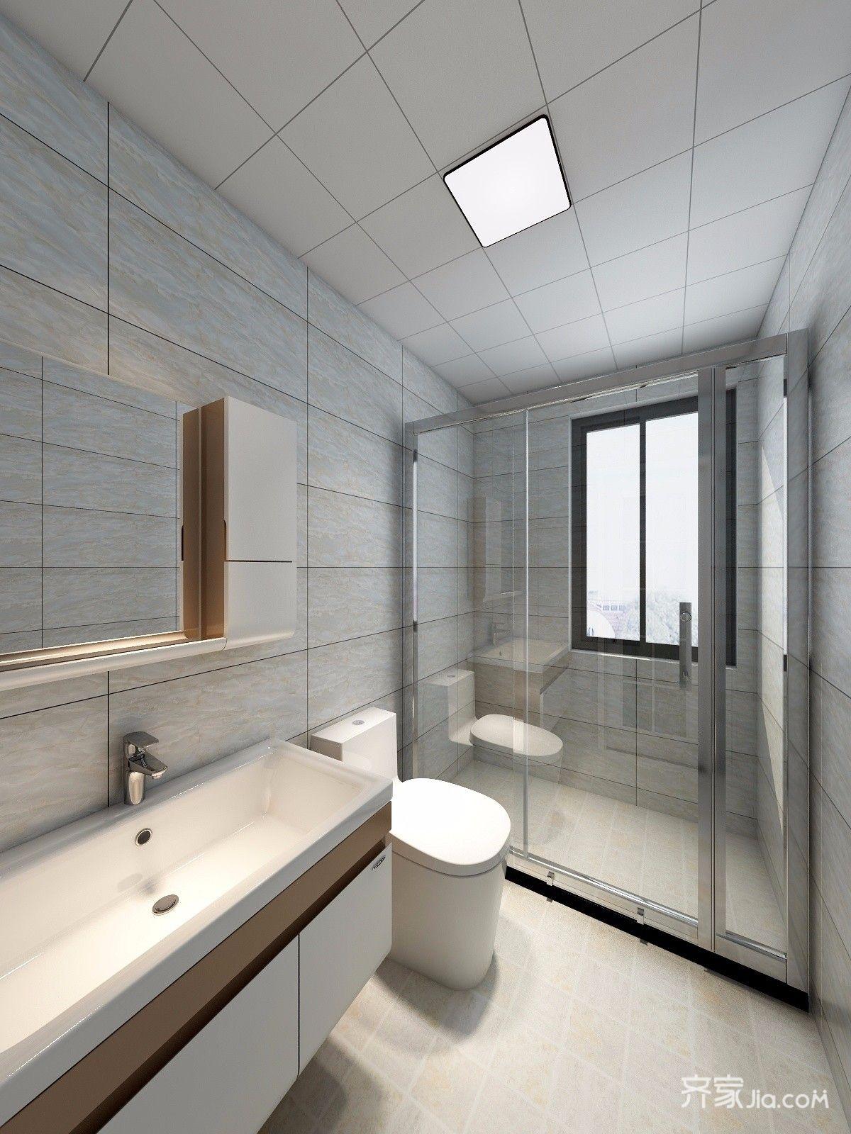 120平米中式风格卫生间装修效果图
