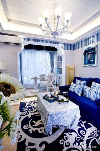 地中海风格二居装修设计效果图