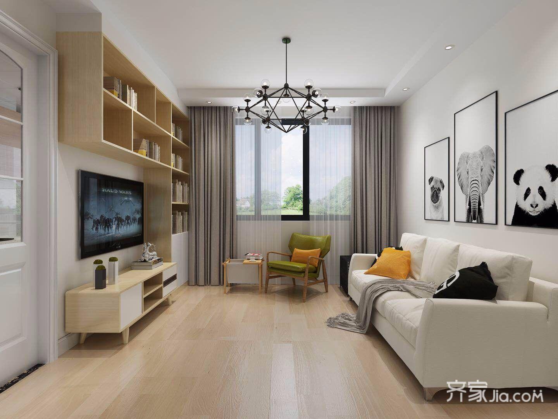 70㎡简约风格两居客厅装修效果图