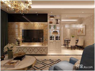 100㎡欧式风格两居装修效果图