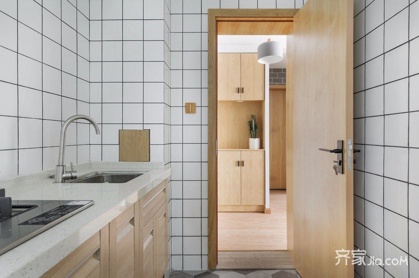 小户型北欧风一居厨房装修效果图