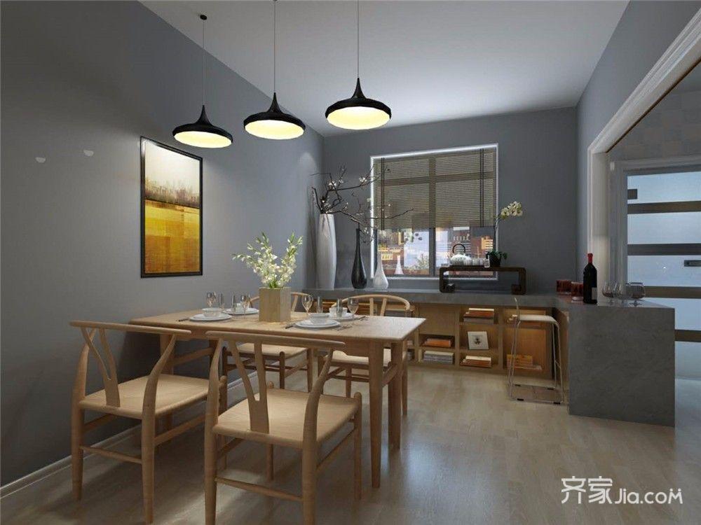 110㎡二居现代简约餐厅装修效果图