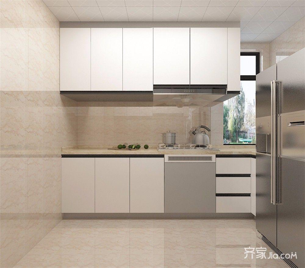 75㎡现代简约二居厨房装修效果图