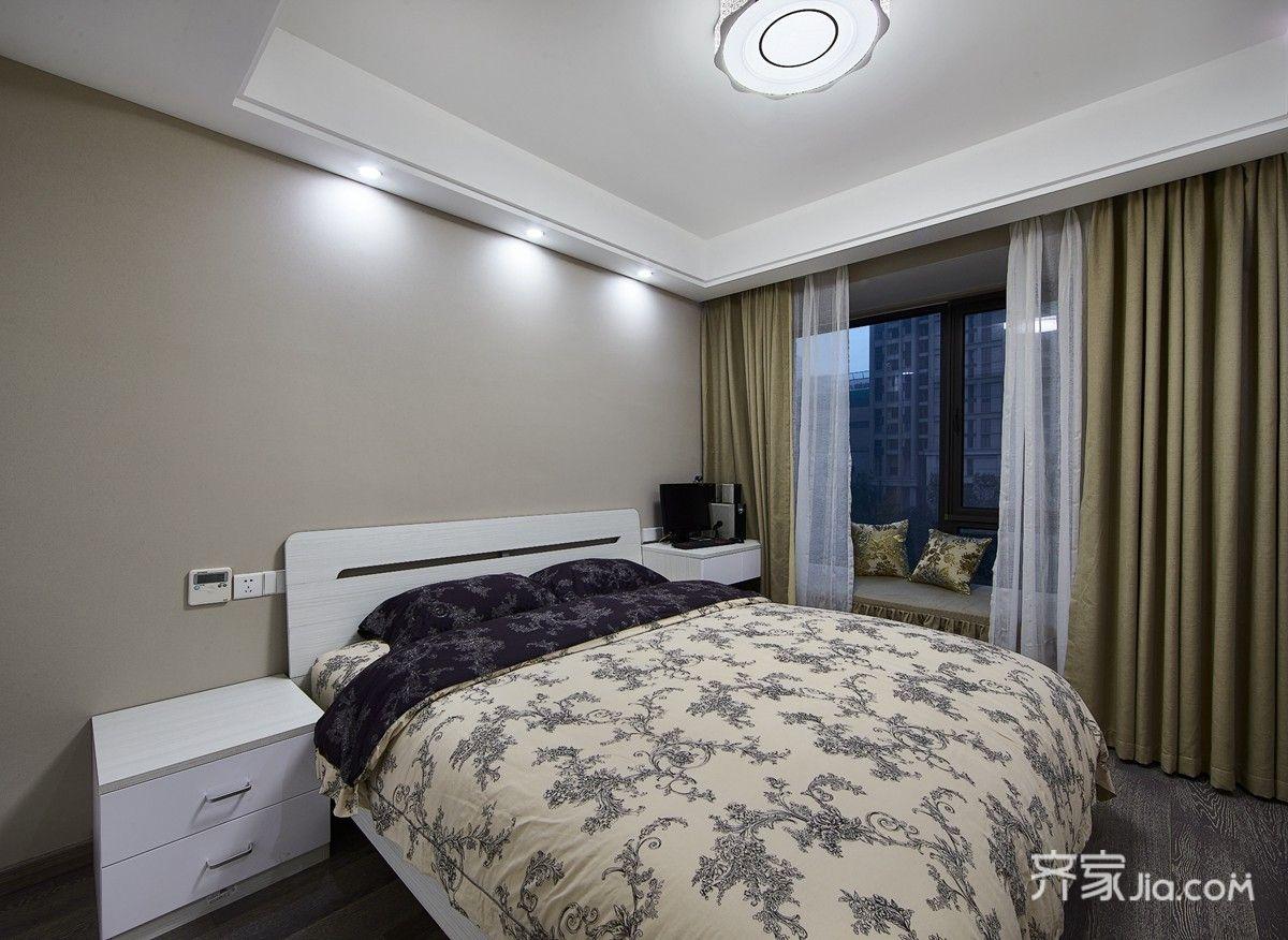 89平现代简约风三居卧室装修搭配图