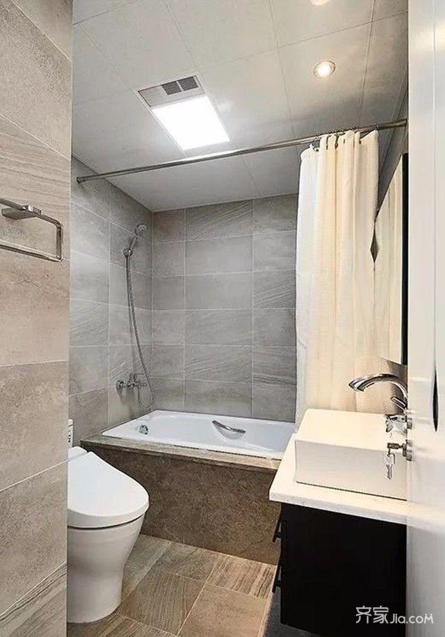 简约复式公寓卫生间装修设计效果图