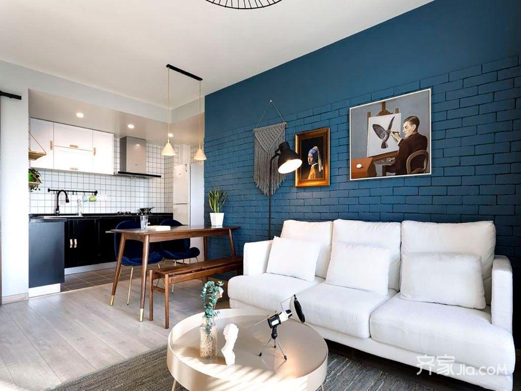小户型北欧风格二居客厅装修效果图