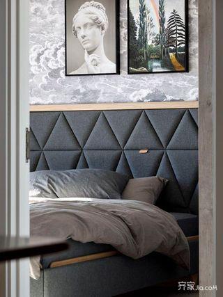 小户型北欧风格二居装修床头软包设计图