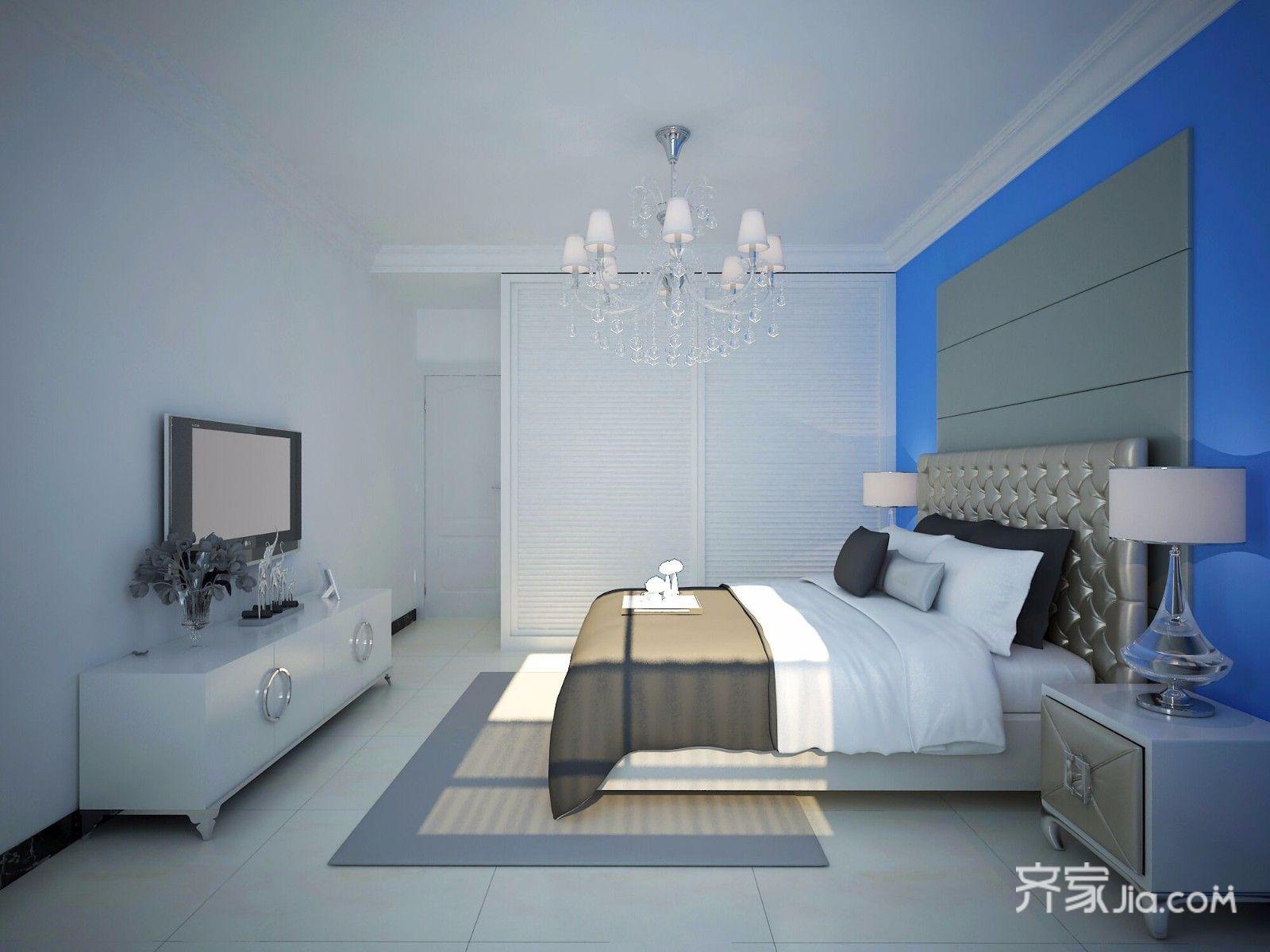 110㎡现代风格三居卧室装修效果图