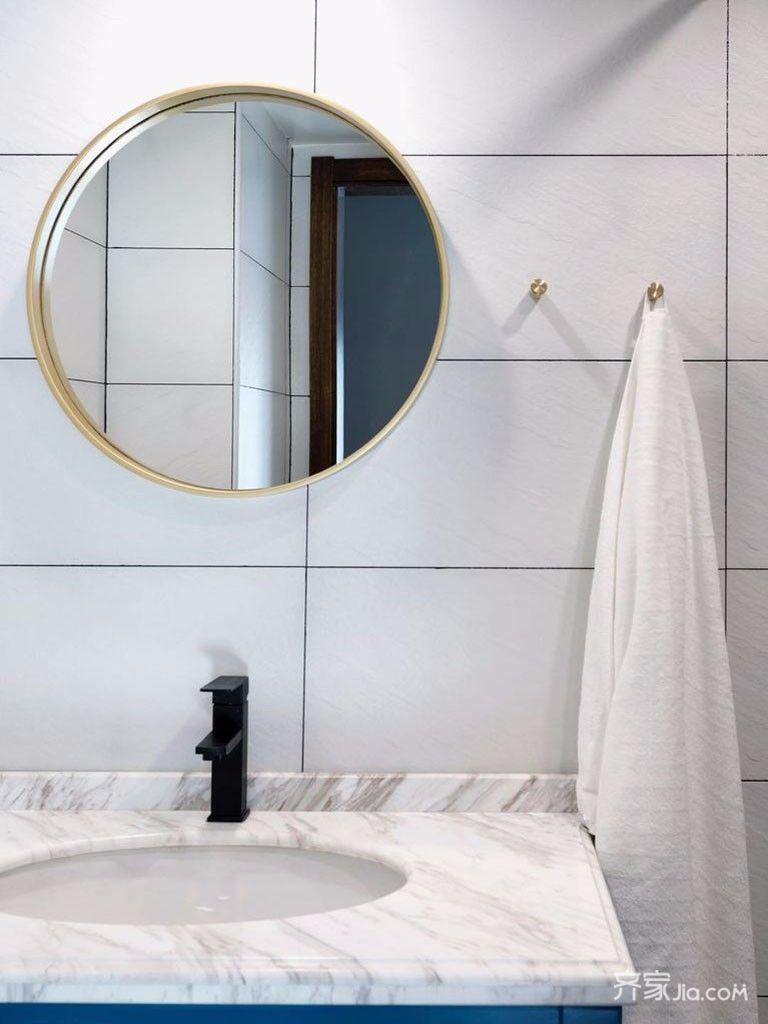 小户型北欧风格二居装修洗手台设计图