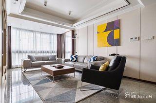 135平现代简约三居装修设计图